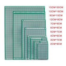 5 шт./лот 5x7 4x6 3x7 2x8 6x8 7x9 двухсторонний медный Прототип PCB универсальная плата экспериментальная макетная пластина для Arduino