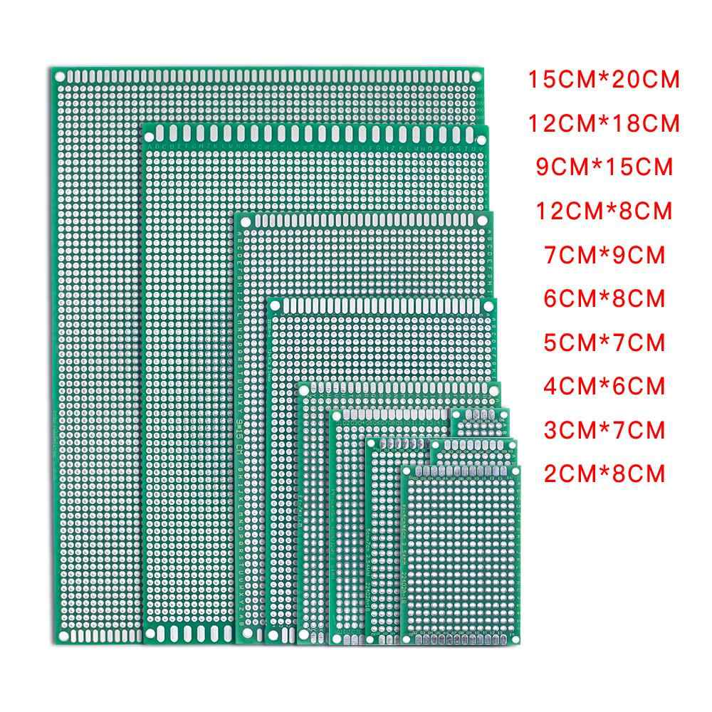 5pcs/lot 5x7 4x6 3x7 2x8 6x8 7x9 Double Side Copper Prototype PCB Universal Board Experimental Development Plate For Arduino