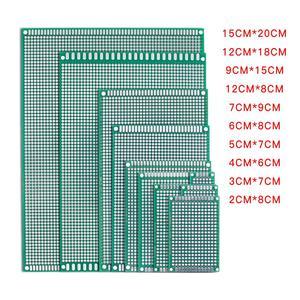 5pcs/lot 5x7 4x6 3x7 2x8 6x8 7x9 Double Side Copper Prototype PCB Universal Board Experimental Development Plate For Arduino