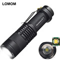 wholesale Mini Flashlight Q5 1200LM Tactical  ZOOMABLE 7W CREE LED  Flashlight Torch Lamp FOR AA 14500 battery