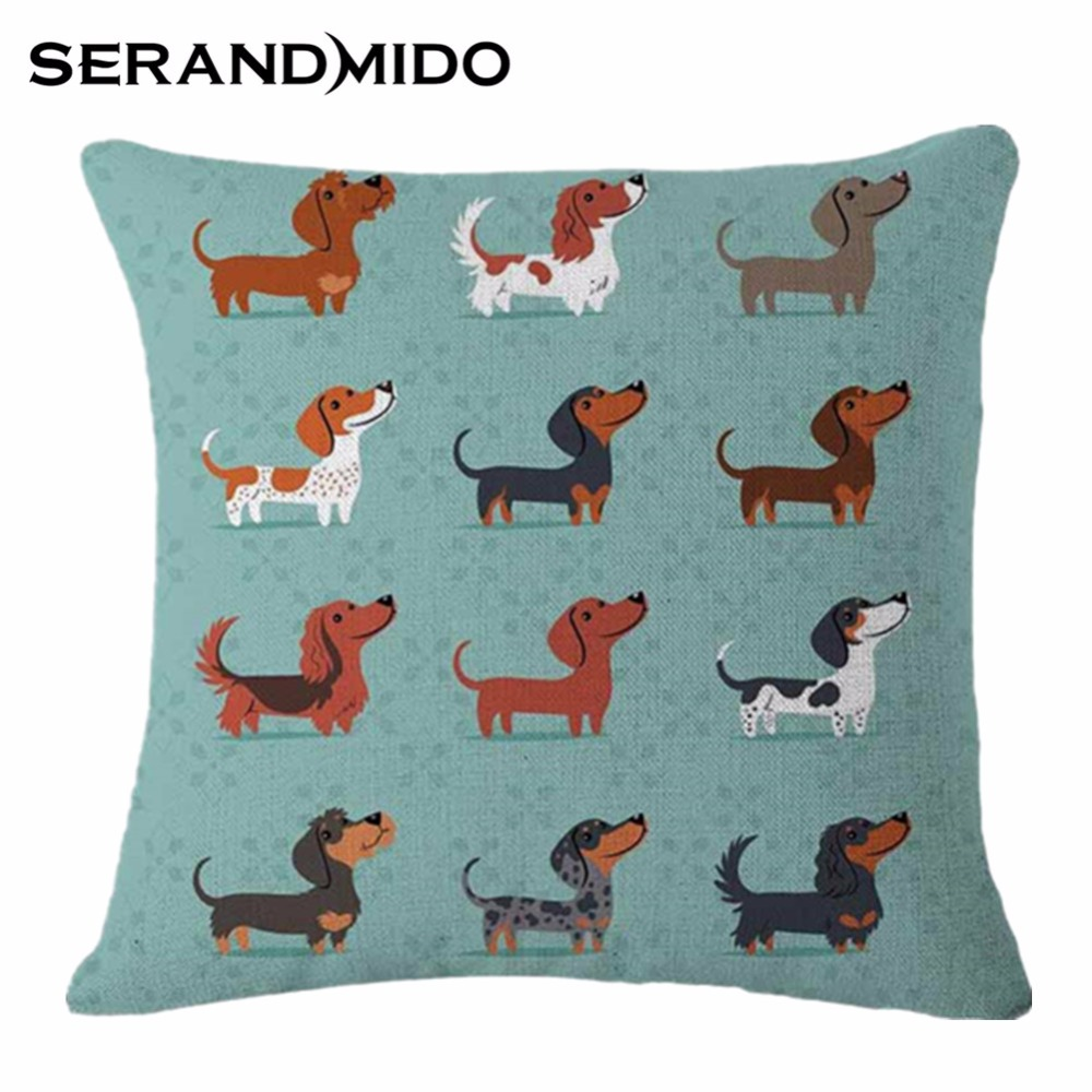 online get cheap outdoor pillows modern aliexpresscom  alibaba  - xcm square outdoor cushions cartoon dog print coussin decoration pillowfor office()