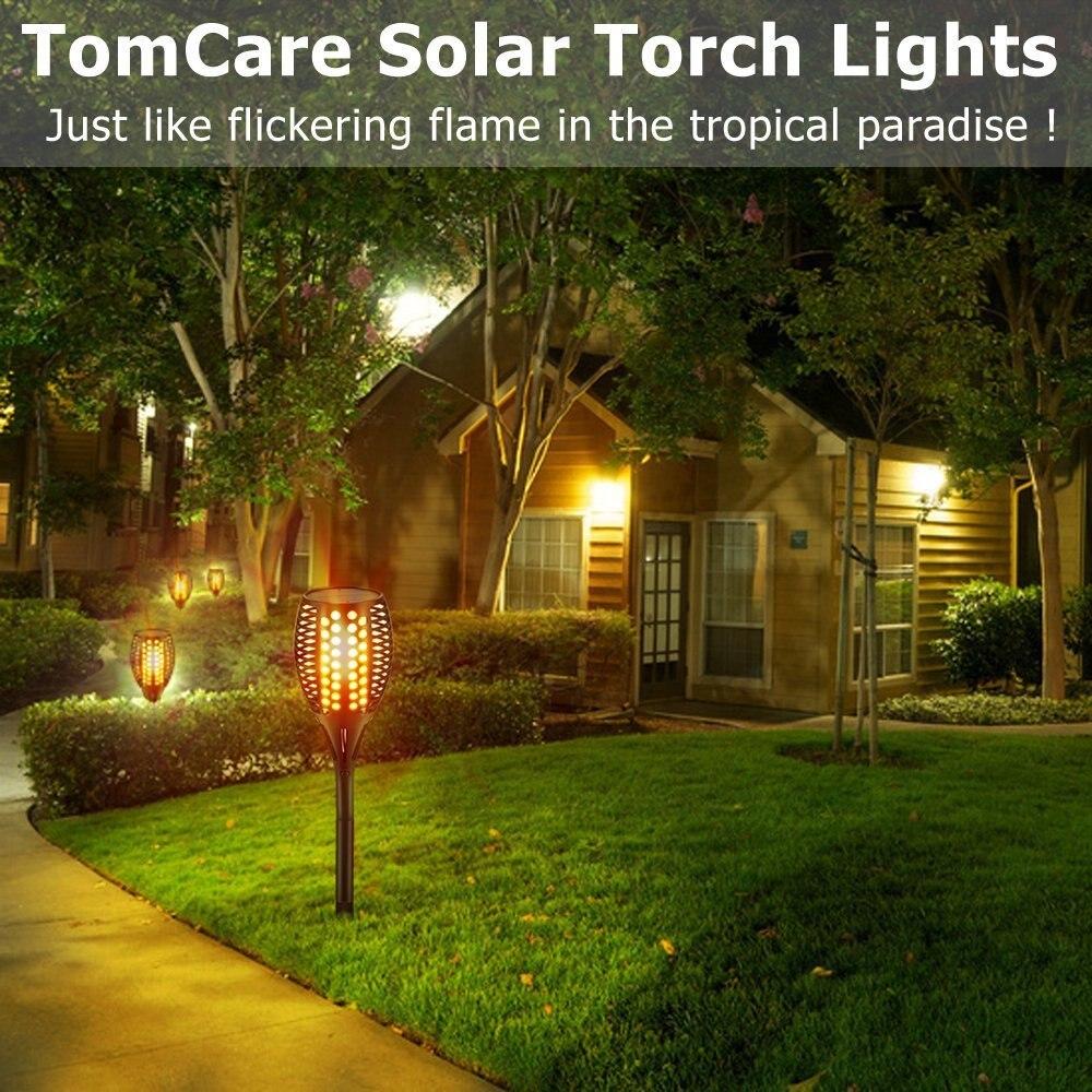 Solar Garden Light Flicker Solor Rode Lights Outdoor Lamp Fixture ...