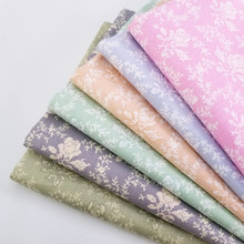 Width 160CM Body-Friendly Cotton Twill Printed Fabric Patchwork Quilting Sewing Material Floral Needlework Crafts Cloth
