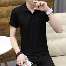 Solid Polo Men Shirt Clothes 2019 Summer Polyester Poloshirts Casual Solid Breathable Top Polos Solid Regular Plus Size 3XL(China)