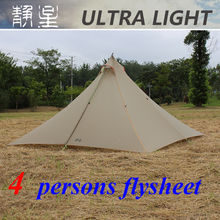 ASTAGEAR 4 persons 30D double silnylon 740 grams ASTA pyramid sheet c&ing tent & Buy tent flysheet and get free shipping on AliExpress.com