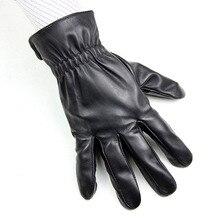 2018 new men's sheepskin gloves fashion elastic style hand velvet lining autumn warm factory direct points men's leather gloves