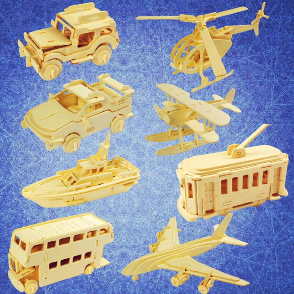 цена на 1pcs 3D wooden puzzle toy car puzzle helps to develop children's intelligence education and children's environment