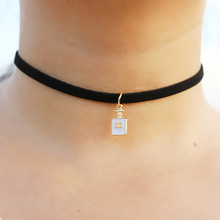 Gothic Choker Necklaces Women Clavicle Collares Fashion Jewelry Bijoux Colier One Direction Necklace Perfume Bottle NEW 2018(China)