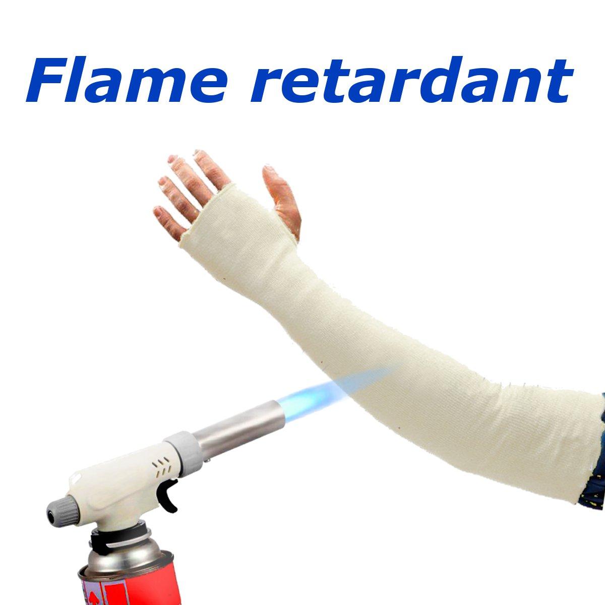 1 Pair Welding Protection Sleeves Cutting Resistant Flame Resistant Heat Protective Welding Lengthen Arm Sleeves Denim Working