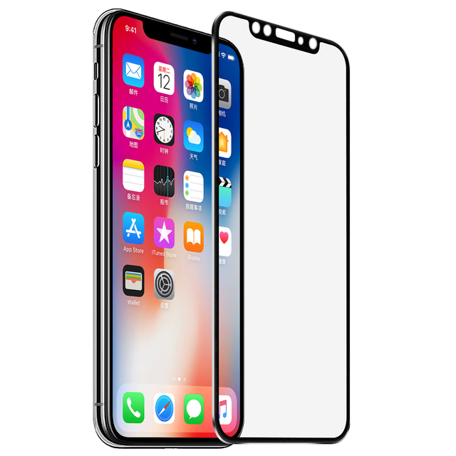 for iPhone 7 screen protector for iPhone X 7 8 Plus 6 6S Plus tempered glass Metal 3D full cover case accessories