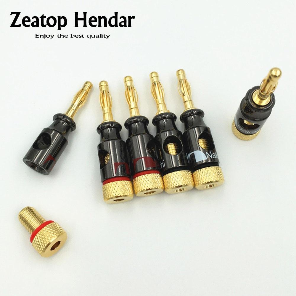 4 mm Connector Audio Cable Speaker tipo A - 5 colores Banana Connector Gold plated Senven 30 piezas de 4 mm Conector para Banana Speaker