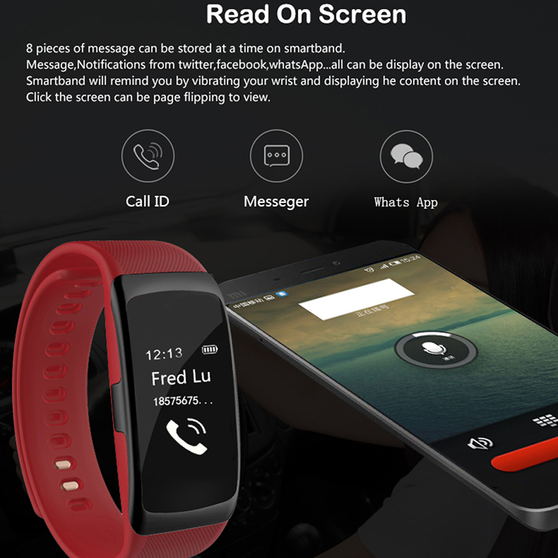 US $29 16 25% OFF|Time Owner S68 Smart Bracelet Heart Rate Blood Pressure  Monitor Call ID Display Social App Push Smart Wristband Health Smartband-in