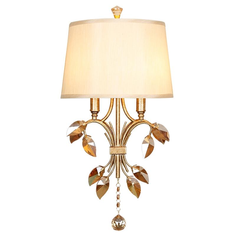Крытый Бра кристалл настенный свет Спальня лампа Ванная комната светильники Винтаж Ресторан Декор настенный светильник кристалл оригинал