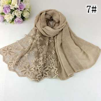 2018 New Arrival Nice Embroidery Cotton Lace Design Long Women Scarves And Shawls 10pcs/lot - DISCOUNT ITEM  7% OFF All Category