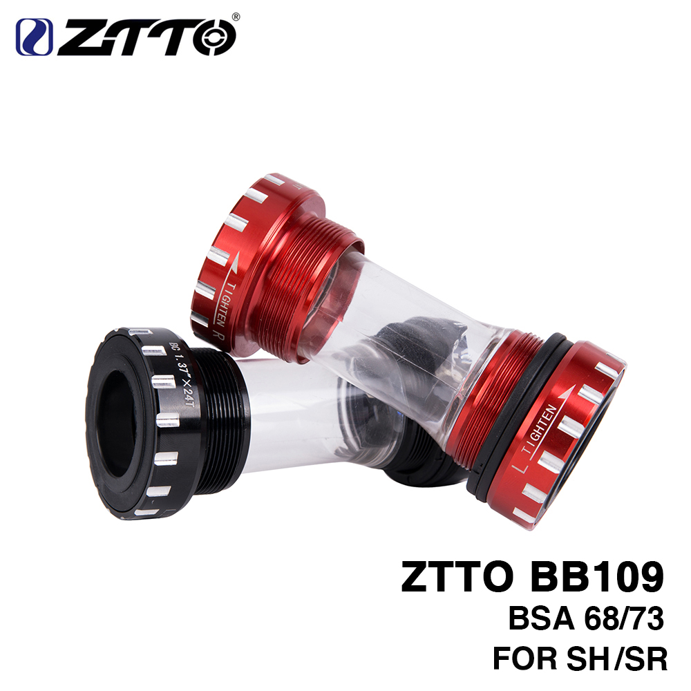 ZTTO BB109 BB68 BSA68 Bsa73 GXP MTB Road Bike External Bearing Bottom Brackets For Parts Prowheel 24mm BB 22mm GXP Crankset