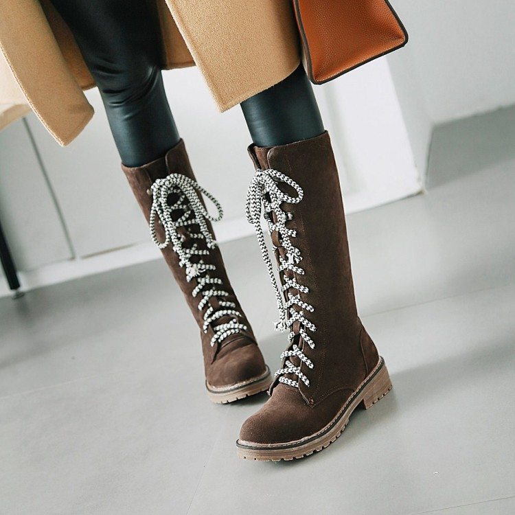Big Size 9 10 11 12 thigh high boots knee high boots over the knee boots boots women ladies boots Cross binding with suedeBig Size 9 10 11 12 thigh high boots knee high boots over the knee boots boots women ladies boots Cross binding with suede