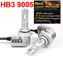 1 Set Super Bright MINI SIZE 9005 HB3 CSP CHIP P20 Car LED Headlight All-in-one Turbo Ball Fan 1:1 Front Bulb Lamp 45W 5200LM 6K