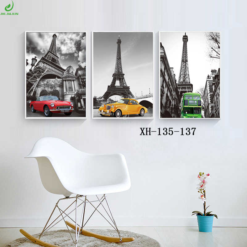 Nordic Poster Car Canvas Prints Wall Art Abstract Oil Painting Motivational Poster Modular Pictures Paintings For The Kitchen