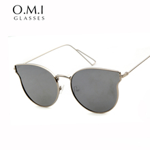 WHO CUTIE Cat Eye Sunglasses Women 2017 Vintage Retro Luxury Italian Brand Designer GG Rays Sun Glasses Superstar oculos OM268