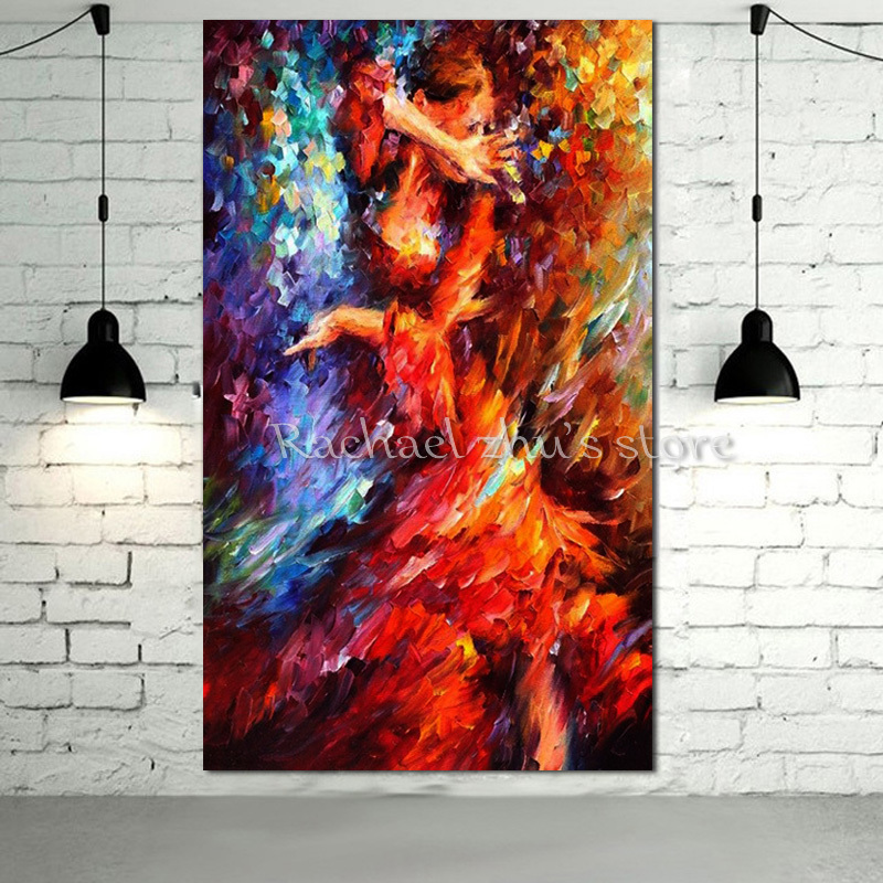 Handpainted Plaette Knife Sexy Dancer Oil Painting On Canvas Abstract Woman Figure Wall Painting For Childrens Room Home DecorHandpainted Plaette Knife Sexy Dancer Oil Painting On Canvas Abstract Woman Figure Wall Painting For Childrens Room Home Decor