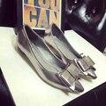 Удобные плоские туфли Балетки обувь больших размеров Женской обуви квартиры-A627-CB2 ЕВРО РАЗМЕР 35-42