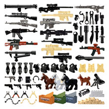 Military Swat Team Guns Weapon Pack Building Blocks City Police Soldiers Figure WW2 LegoINGlys Military Toy Builder Series Toys(China)