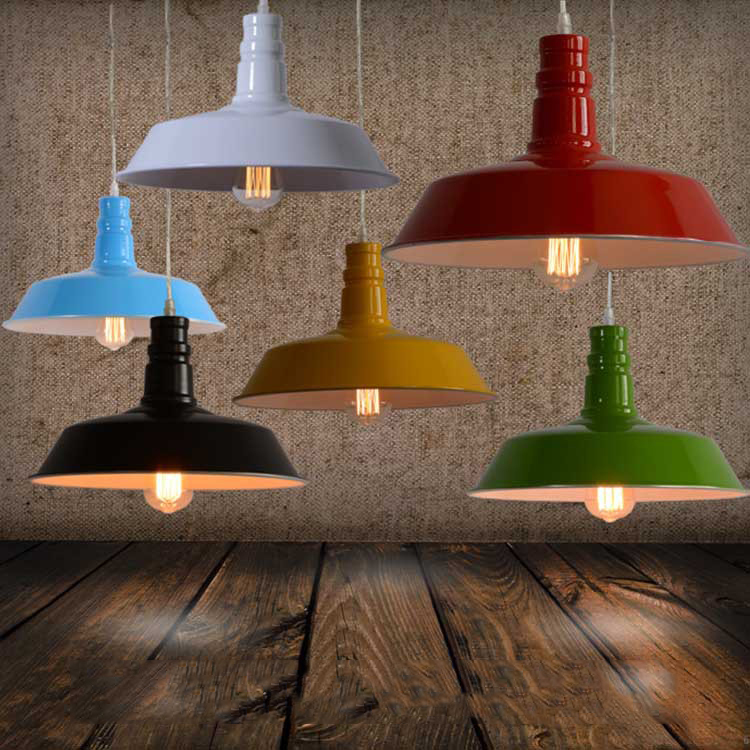 ECOBRT Retro industrial LOFT style restaurant bar pendant lighting creative semicircle aluminum decoration lights DL30011