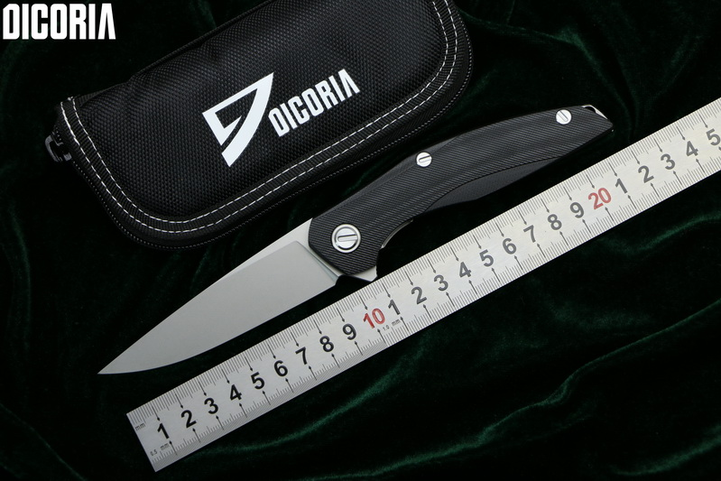 DICORIA Flipper F111 D2 blade Steel titanium G10 handle folding knife outdoor camping hunting pocket fruit