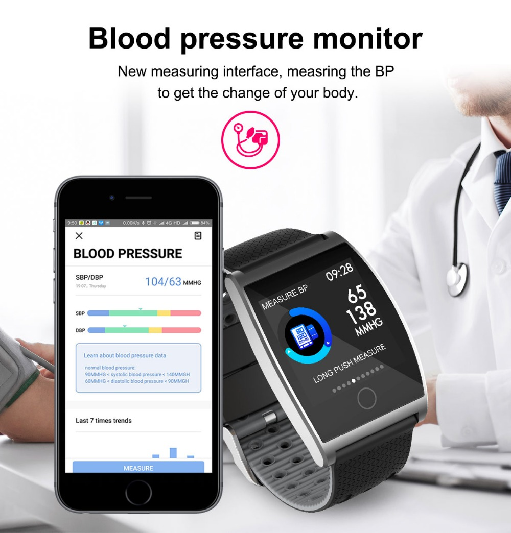 2018 Smart Watch QS05 Wristband With Blood Pressure Blood Oxygen Heart Rate Monitor Sports Activity Tracker Fitness Smartwatch (5)