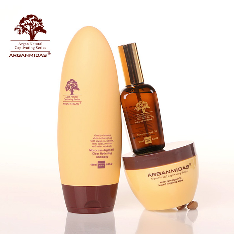 Arganmidas ARGAN oil Nourishing 450ml hair Shampoo +300ml hair mask+ 100ml ARGAN oil Hair Care Best hair salon product масло physicians formula argan wear ultra nourishing argan oil 30 мл