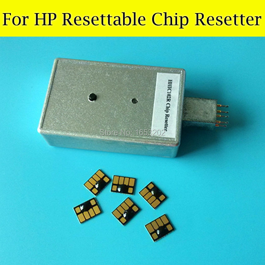 1 PC Resetter For HP 83 Use For HP Design jet 5000 5000pc Printer With 6 Pieces Resettable Chip