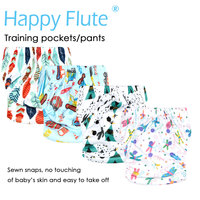 5 Off One Piece Pack Happy Flute Onesize Training Pocket Diaper Tpu Outer Waterproof And Breathable