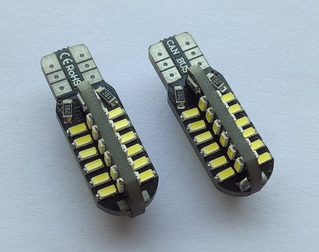 500pcs T10 Canbus 48 smd 3014 led 0 14A no error 194 W5W Car Side Light
