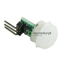 10 חתיכות. מיני IR אלקטרי אינפרא אדום PIR אדם חיישן תנועה אוטומטי גלאי מודול AM312 חיישן DC 2.7 12 V