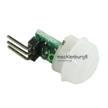 10 peças. Mini IR Infravermelho Piroelétrico PIR Sensor Automático Detector de Movimento Humano Módulo Sensor DC 2.7 a 12 AM312 V