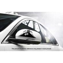 Adhesivo divertido para coche con diseño de monstruo, accesorios reflectantes impermeables, pegatina de vinilo para coche, pegatina decorativa
