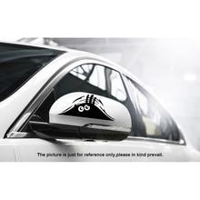 مضحك Peeking الوحش سيارة ملصق اكسسوارات السيارات التصميم عاكس مقاوم للماء ملصق سيارة الموضة ملصق حائط من الفينيل الديكور عصا