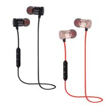 Fashion Magnetic Wireless Bluetooth Sports Earphones Heavy Bass Metal Earbuds In-ear Earpieces Universal For Phone(China)