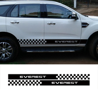 customize for ford everest SUV car accessories modified dedcals 2PC racing stripe plaid side door graphic vinyl scratch sticker