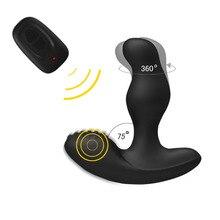 Levett César Carregamento USB Prostata Prostate Massager 360 Graus de Rotação de Controle Remoto Sem Fio Vibrador para Homens Brinquedos Do Sexo Anal