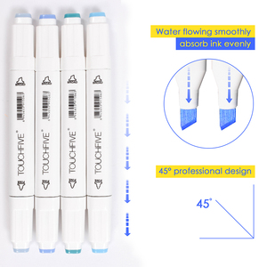 Image 4 - TOUCHFIVE 40/60/80/168 Color Art Markers Sketch Drawing Marker Pens Set Alcohol Based Twin Tips Anime Art Supplies With 6 Gifts