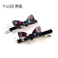 Women Hair Accessories Cute Bow Alligator Cat-Ear Pin Small Grip Rhinestone  Clip For Girls