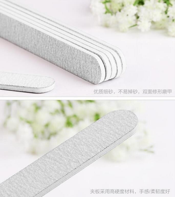 15 шт. профессиональная белая шлифовальная полосатая пилочка для ногтей Полирующий гвоздь художественный инструмент