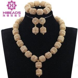 Image 5 - Yeni tasarım gümüş/altın boncuk takı seti kadınlar afrika moda takı aksesuar nijeryalı düğün boncuk seti QW1184