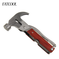 FATCOOL Multitool Claw Hammer Multipurpose Hand Tools Knife Screwdriver Pliers Saw Blade Emergency Auto Rescue Tools