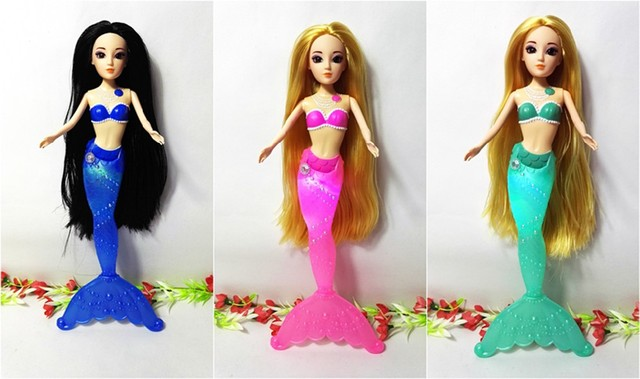 Fashion Kids Mermaid Dolls Toys Swimming Luminescent Mermaid Doll Princess Dolls Girl Toys For