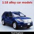1:18 сплава модели автомобилей, высокая моделирования Ford Explorer, металл diecasts, столкнувшихся, детских игрушечных транспортных средств, бесплатная доставка