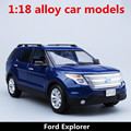 1:18 alloy car models,high simulation Ford Explorer,metal diecasts,freewheeling,the children's toy vehicles,free shipping