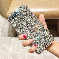 For Sony Xperia Z1 Z2 Z3 Z5 M4 M5 E5 C4 C5 L1 L2 Handmade Rhinestone Case Full Gray Diamond Cover