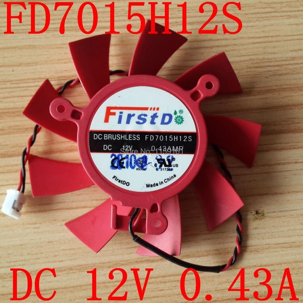 Gratis frakt FD7015H12S 12V 0,43A för ATI HD 5770 HD5830 HD5850 kylfläkt